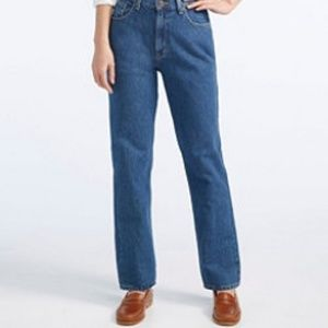 L.L.Bean Double L Relaxed Fit Hi Waisted Jeans 14